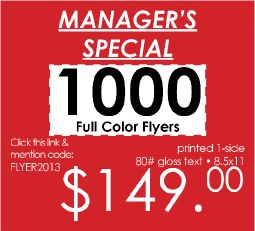 Manager's Special!